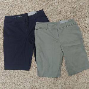 2 pairs Talbots Perfect Shorts NWT